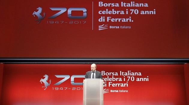borsa italiana festeggia i 70 anni di ferrari - borsa italiana