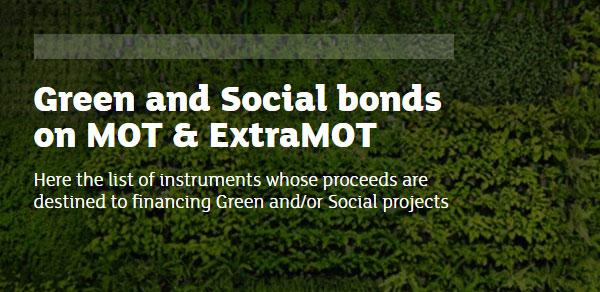 GREEN AND SOCIAL BONDS - Borsa Italiana
