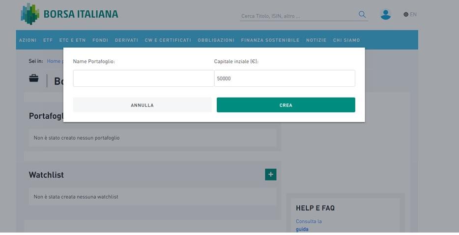e0909df257 Come si crea un portafoglio? - Borsa Italiana